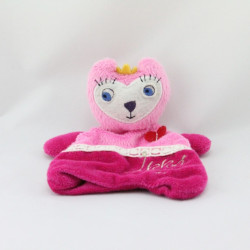 Doudou plat chat rose IKKS