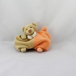 Doudou semi plat ours beige orange PRISCILLA LARSEN