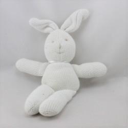 Doudou lapin blanc laine  J-LINE