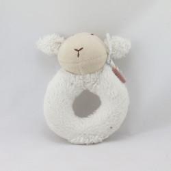 Doudou hochet mouton blanc NATALYS