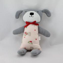 Doudou chien gris rose ALIMROSE DESIGNS