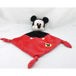 Doudou plat Mickey noir rouge DISNEY