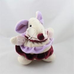 Doudou souris rose mauve prune jupe BABY NAT