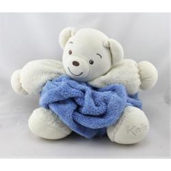 Doudou ours plume blanc bleu KALOO