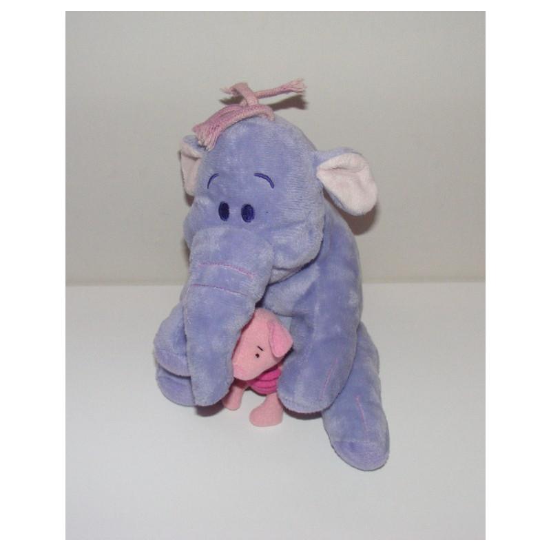 Peluche Lumpy l'éléphant et porcinet amis de winnie Disney