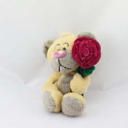 Doudou ours Pimboli avec rose DIDDL