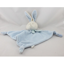 Doudou plat triangle lapin bleu blanc FASHYBABY