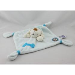 Doudou plat chien bleu blanc rayé Dodo d'amour MGM