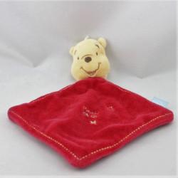 Doudou plat rouge étoile Winnie Pooh Bear DISNEY BABY