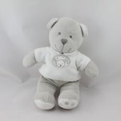 Doudou ours blanc gris NICOTOY