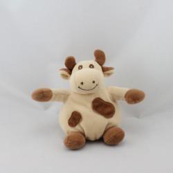 Mini Doudou vache daisy blanche tachetée JOLLYBABY  14 cm