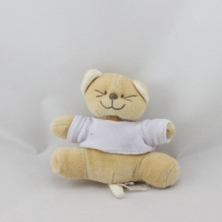 Mini Doudou chat Patou beige bleu BENGY