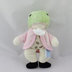 Doudou grenouille veste rose EDEN
