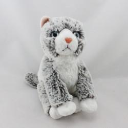 Peluche chat gris blanc SOFT FRIENDS