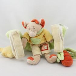 Mobile Doudou éléphant beige rouge jaune vert JOLLYBABY