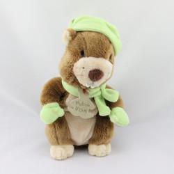 Doudou castor marron vert HISTOIRE D'OURS