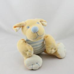 Doudou chien écru jaune bleu JOLLYBABY