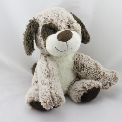 Doudou chien marron blanc tout doux DOUDI