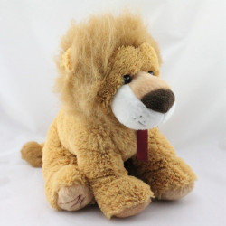 Grand doudou peluche lion beige marron MARIONNAUD