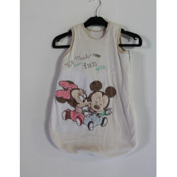 Gigoteuse velours blanche sans manches Mickey et Minnie DISNEY