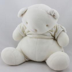 Doudou ours blanc rayures jaune Bébé tendresse NOUNOURS
