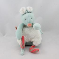 Doudou souris bleu Biscotte et Pompon MOULIN ROTY