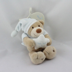Doudou ours bleu ciel étoile NATTOU