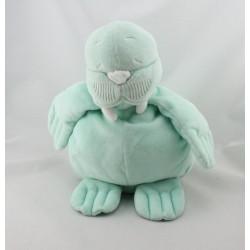 Doudou phoque morse vert NOUKIE'S