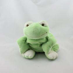 Doudou grenouille verte foulard bleu NOUKIE'S