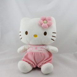 Doudou chat HELLO KITTY blanc rose SANRIO LICENSE