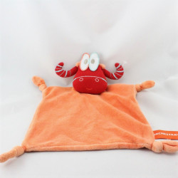 Doudou plat vache taureau rouge orange ORCHESTRA