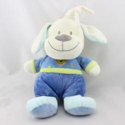 Doudou musical chien bleu coeur NICOTOY