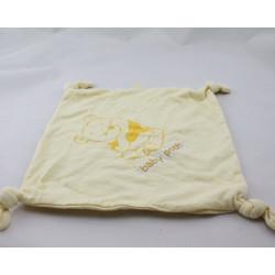 Doudou plat Winnie l'ourson jaune BABY POOH DISNEY