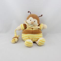 Doudou et compagnie abeille bourdon Ponpon avec papillon