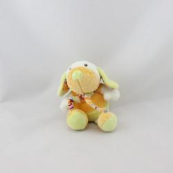 Mini Doudou chien vert orange BABYSUN