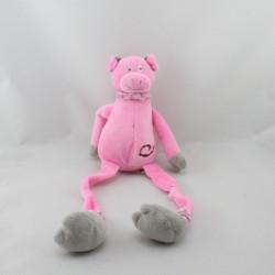 Doudou cochon rose aux longues pattes LES PETITES MARIE 48 cm