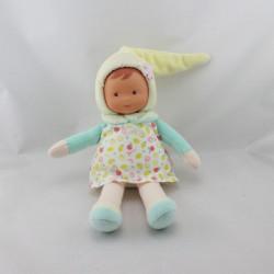 Doudou poupée bébé Miss Zest d'amour Fruit jaune vert COROLLE