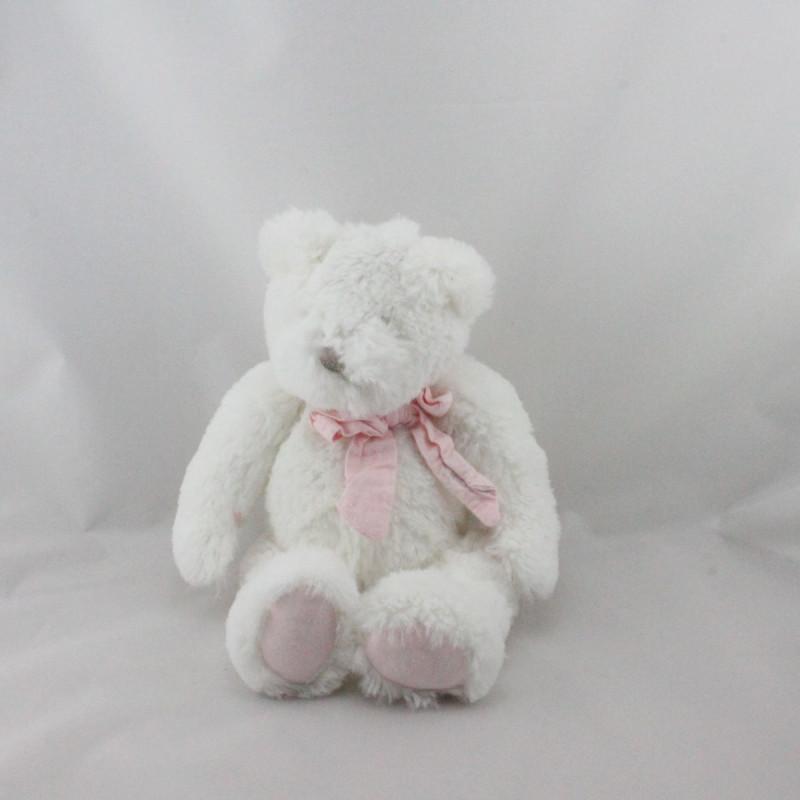 Doudou et compagnie ours blanc rose Mon tout petit