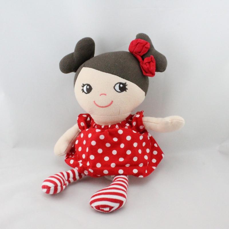Doudou poupée robe rouge à pois H ET M H.M H&M