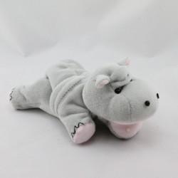 Doudou hippopotame gris rose IMAGINARIUM