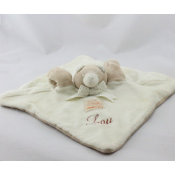 Doudou plat ours blanc beige MOULIN ROTY