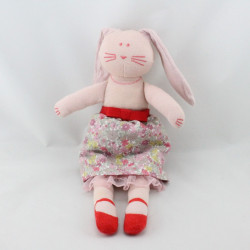 Doudou lapin rose jupe fleurs PETIT BATEAU