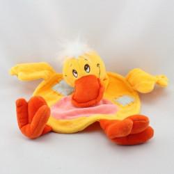 Doudou plat canard jaune NOUNOURS