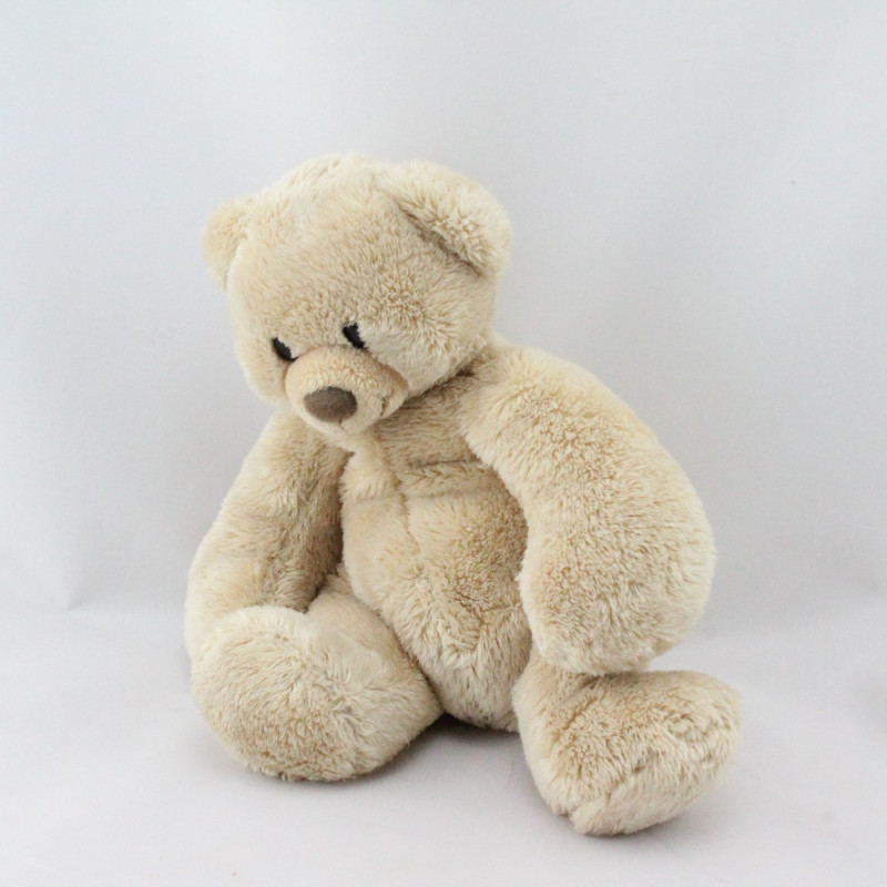 Doudou ours beige NICOTOY 19 cm