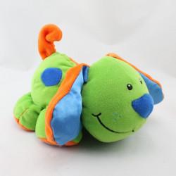 Doudou chien vert bleu orange IMAGINARIUM