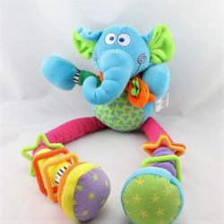Doudou eveil hochet éléphant bleu BEBE CONFORT