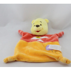 Doudou plat Winnie l'ourson orange nuage ballon DISNEY NICOTOY