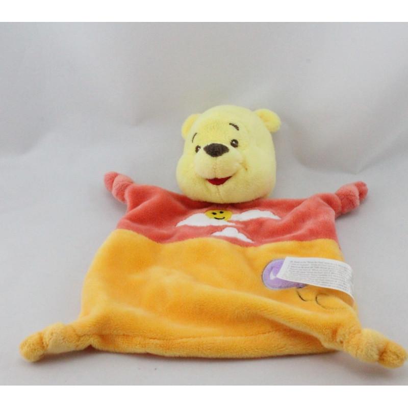 Doudou plat Winnie l'ourson orange nuage ballon DISNEY NICOTOY