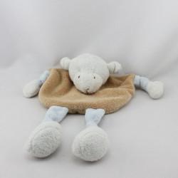 Doudou plat mouton beige blanc NICOTOY