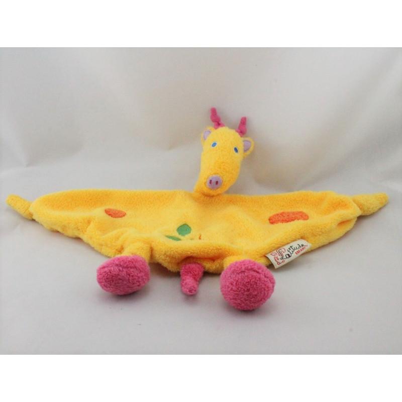 Doudou plat girafe jaune LATITUDE
